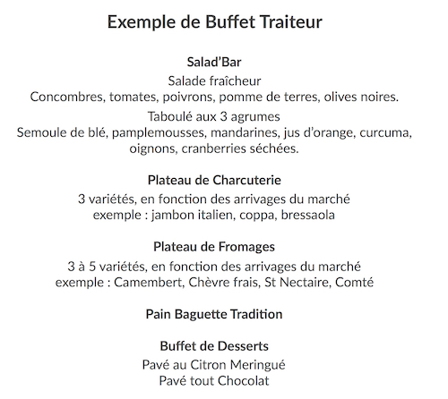 Buffet traiteur