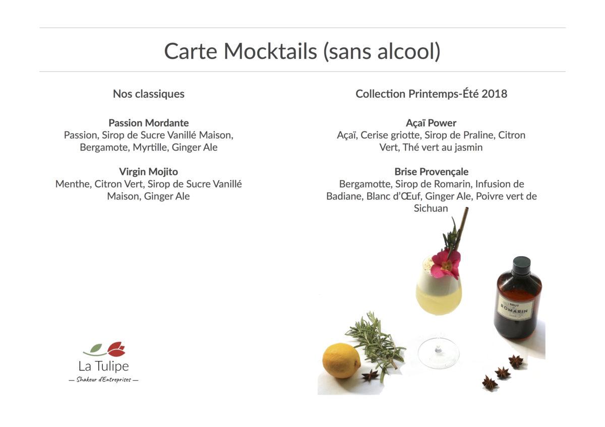 Carte Mocktails