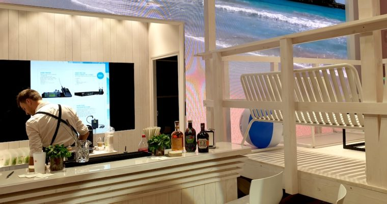 Bar à Mojitos sur le stand Aucop au salon Heavent Paris 2019