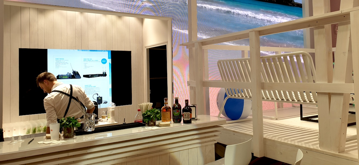 Bar à Mojitos sur le stand Aucop au salon Heavent Paris 2019